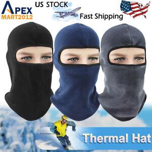 Winter Windproof Thermal Fleece Neck Warm Balaclava Ski Snow Full Face Mask Hat