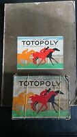 Totopoly (1938-40?) Boxed - with Full Size Alternative Sided Game Board VGC