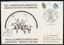 Mayfairstamps Argentina 1996 Bird Combo Olympics Polo Cover wwi_05579