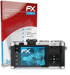atFoliX 3x Displayschutzfolie für Leica X2 Schutzfolie klar Folie