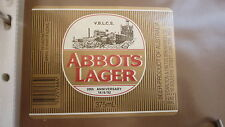 OLD AUSTRALIAN BEER LABEL, ABBOTS LAGER, 1992 VIC BEER LABEL CLUB ISSUE