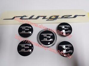 "Hood Trunk Emblem Badge E Logo 18"" Center Wheel Cap For 2018 2019+ Kia Stinger"