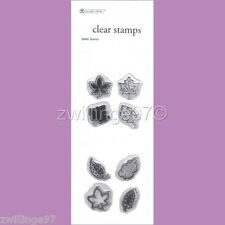 NIP NEW AUTUMN LEAVES CLEAR STAMPS MINI LEAVES Set of 8 Scrapbooking Stamping