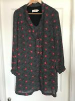Joy the Store Louche red and black starry dress size 14