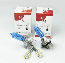 XENON 55W SUPER WHITE H7 499 Headlight Bulbs 12V W5W COMPATIBLE A
