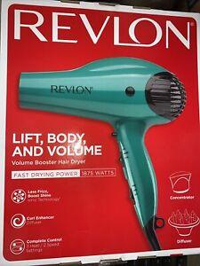Revlon Professional Ionic Hair Blow Dryer 1875W Volume Boost w/ Diffuser 17h3