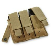 NEW  Military Style Tactical Triple Pistol Mag Magazine MOLLE Pouch - COYOTE TAN