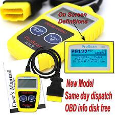 Any Car Engine Fault Diagnostic Scanner Code Reader OBD OBD2 OBDII CAN BUS