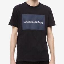 Calvin Klein Jeans (Brand New) Men's Black Boxed Logo T-Shirt Size XL