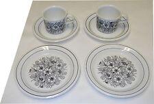 Esteri Tomula Design Krokus Set Cups Saucers And Cake Plates (2) Arabia Finland