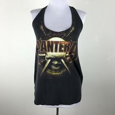 Furst of a Kind Pantera Halter Top Shirt Size S Black Cotton Cropped