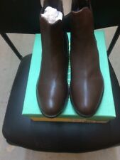 Mod Comfy Ladies Leather Chlsea Boots Size 8 Brown
