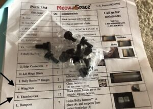 NEW Meow Space Magnetic Pet Enclosure WING NUTS AND THUMBSCREWS parts