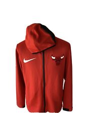 NEW Mens XL Chicago Bulls Nike NBA THERMA Flex On-Court Showtime Hoodie
