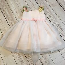 Joan Calabrese Flower Girls Dress 18 Months Pink With Flowers Preowned