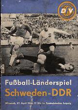 Länderspiel 27.04.1966 DDR - Schweden in Leipzig