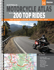 HEMA MAPS MOTORCYCLE ATLAS WITH 200 TOP RIDES - 6th ED