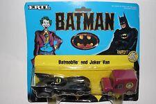 ERTL DC Comics Super Hero Figures, Batmobile and Joker Van Lot #2