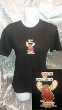 BNWT GIVE ME CHOCOLATE MOOSE Chocoholic/Lover/Summer/Funny/Retro Tshirt/Top Sz L