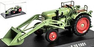 Fendt Dieselross F25 mit Frontschaufel 1951 Traktor Schlepper grün green 1:43