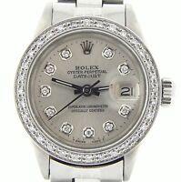 Rolex Datejust Lady Stainless Steel Watch w/ Silver Diamond Dial & .85ct Bezel