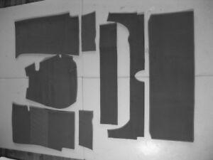 Gray velours carpet kit for Fiat 1300 / 1500 Sedan 1961-1967 Carpet
