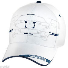 New Unique   Ford Gt Gt Supercar Embroidered White Cotton Hat Cap