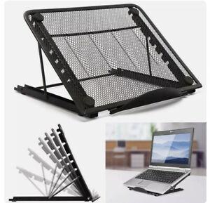 Adjustable Laptop Stand Folding Portable Desktop iPad Holder Office Support Mesh