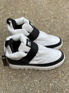 Sorel Joan Of Arctic Next Lite Strap Puffy Boot Size 11 White Black New