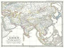 GEOGRAPHY MAP ILLUSTRATED ANTIQUE SPRUNER ASIA 12TH C SELJUK POSTER BB4477A
