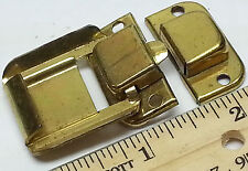 Brass plated small square Jewelry box or small wood trinket box latch over