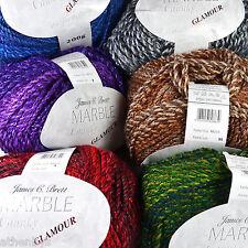James Brett Marble Chunky Glamour 200g Knitting Wool Features Metallic Thread