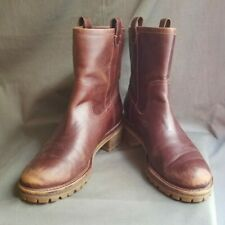 Women's Brown Leather TORY BURCH FOSTER Ankle Boots Sz-10 M Made in China