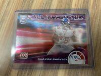 2020 DONRUSS ELITE SAQUON BARKLEY FULL THROTTLE PURPLE 07/75 New York Giants