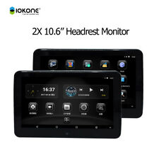 "2 Headrest Monitors 10.6"" HD Android Car Headrest Monitor Player with HDMI/Wifi"