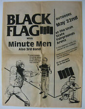 BLACK FLAG Utah State Fairgrounds 1985 CONCERT POSTER Minutemen PUNK Pettibon
