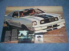 """1976 Ford Mustang II Vintage 2-pg Ad """"Cobra Strikes Again. Cobra II"""""""