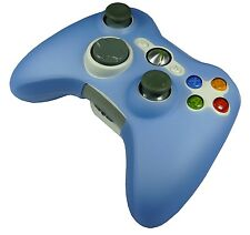 LIGHT BLUE SILICONE SKIN CASE COVER for XBOX 360 CONTROLLER