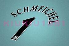 Manchester United Schmeichel #1 PREMIER LEAGUE 97-06 Black Name/Number Set