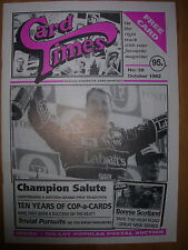 CARD TIMES MAGAZINE FORMERLY CIGARETTE CARD MONTHLY No 38 OCTOBER 1992