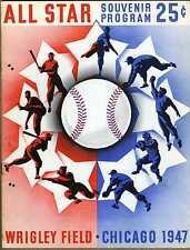 1947 baseball All Star program, Chicago Cubs Wrigley Field Joe DiMaggio  Holes