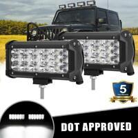 """2x 7inch LED Light Bar Work Flood Beam ATV UTV TRUCK SUV For Toyota Ford GMC 6"""""""