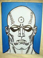 Toile Peinture Watchmen médecin Manhattan visage art 16x12 pouces acrylique