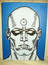 Lienzo Watchmen Dr. Manhattan cara Arte 16x12 pulgada de acrílico