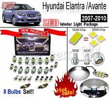 8pcs White 5630 LED Interior Light Kit For Hyundai Elantra /Avante HD 2007-2010