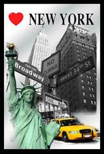 New York Mirror Statue of Liberty, Empire, Taxi, bar, Party Basement, 11 13/16in