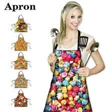 Donuts Hotdog Women Apron Kitchen Cooking Restaurant Bib Adjustable Dress Gift