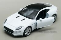 Jaguar F-Type Coupe white, Welly scale 1:34-39, model toy car gift
