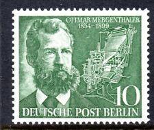 Berlin 1954 10pf Ottmar Mergenthaler Mint Unhinged