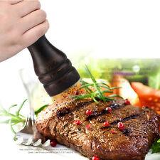 Wooden Pepper Sauce Spice Salt Mill Grinder Hands Movements Convient Black